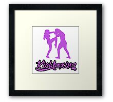 Kickboxing Female Knee Purple  Framed Print