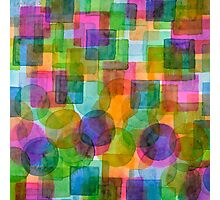 Befriended Squares and Bubbles Photographic Print