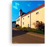 The village church of Eidenberg Canvas Print