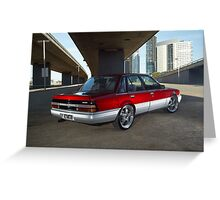 Candy Holden Commodore VL Turbo Greeting Card