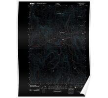 USGS Topo Map Oregon Monument 20110822 TM Inverted Poster