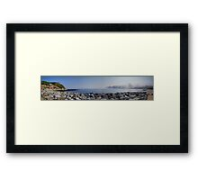 Runswick Bay ~ Panorama, HDR Framed Print