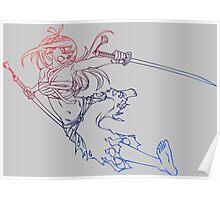 fairy tail erza scarlet titania anime manga shirt Poster