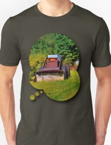 Old abandoned snow removing vehicle T-Shirt