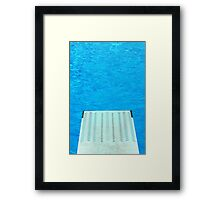 Diving Board 24 Framed Print