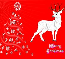 A White Hart Merry Christmas card, etc. design by Dennis Melling