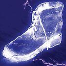 'Electric Blue Shoe' by Alan Hogan