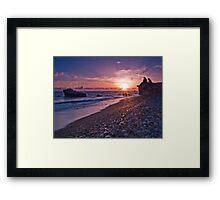 Waiting For The Sunset. Framed Print