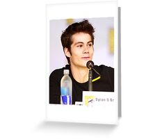 Dylan O'Brien Comic Con picture Greeting Card