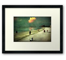 Clearwater beach at dusk Framed Print