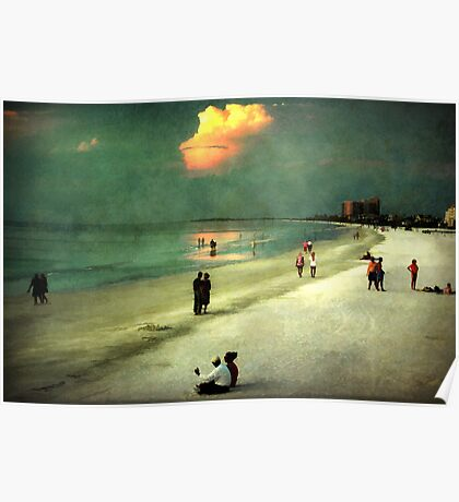 Clearwater beach at dusk Poster