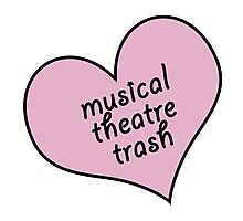 Musical theatre trash Photographic Print