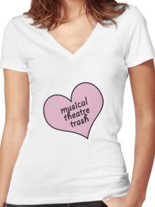 Musical theatre trash Women's Fitted V-Neck T-Shirt