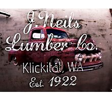 Old Pickup from the Lumber Yard Photographic Print