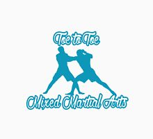 Toe to Toe Mixed Martial Arts Blue Unisex T-Shirt