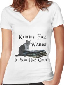 Khajiit Haz Wares - V.2 Women's Fitted V-Neck T-Shirt