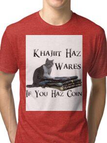 Khajiit Haz Wares - V.2 Tri-blend T-Shirt