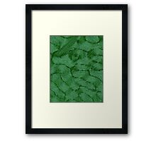 Green Fibre Framed Print
