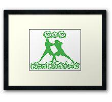 Toe to Toe Mixed Martial Arts Black Green  Framed Print