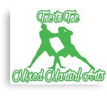 Toe to Toe Mixed Martial Arts Black Green  Canvas Print