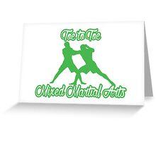 Toe to Toe Mixed Martial Arts Black Green  Greeting Card