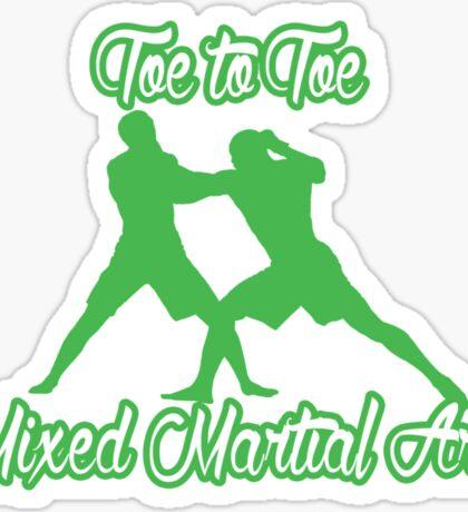 Toe to Toe Mixed Martial Arts Black Green  Sticker