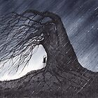 Shelter - Sophia finds Shelter under an Ancient Tree by David Hayward