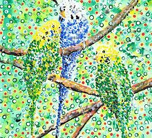 Budgies by George Coombs