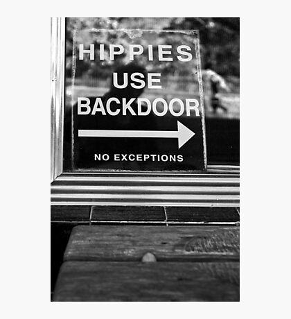Hippies Use Back Door Photographic Print