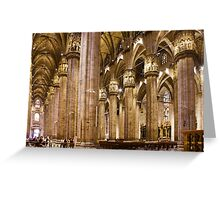 Milan Cathedral, ITALY - Interior Decoration: 1575-1585 Greeting Card