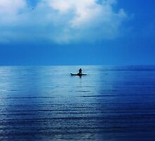 Lonely Fisherman by Surani Bandara