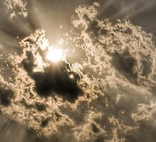 Sun Bursting Through Clouds by dlwjiang