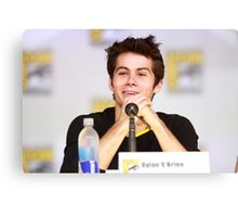 Dylan O'Brien Comic Con Smile Canvas Print