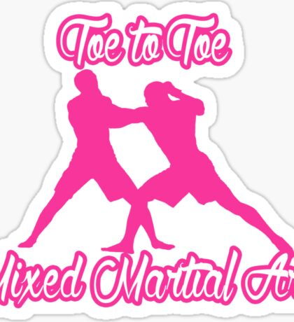 Toe to Toe Mixed Martial Arts Pink Sticker