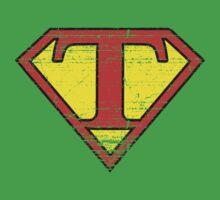 Vintage T Letter Kids Clothes
