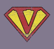 Vintage V Letter by adamcampen