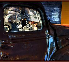 Rust on Blue by Wayne King