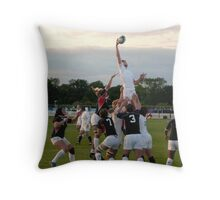Waiting for the perfect shot  Throw Pillow