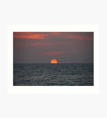 Sunset at Andaman Art Print