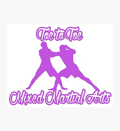 Toe to Toe Mixed Martial Arts Purple  Photographic Print