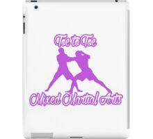Toe to Toe Mixed Martial Arts Purple  iPad Case/Skin