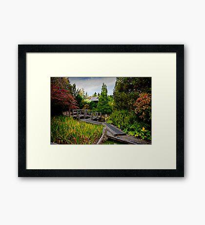 Japanese Garden - Hobart Botanical Gardens Framed Print