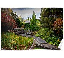 Japanese Garden - Hobart Botanical Gardens Poster