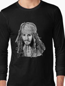 Captain Jack Sparrow (b/w) Long Sleeve T-Shirt