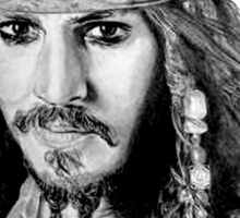 Captain Jack Sparrow (b/w) Sticker