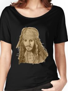 Captain Jack Sparrow (sepia) Women's Relaxed Fit T-Shirt
