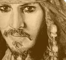 Captain Jack Sparrow (sepia) Sticker
