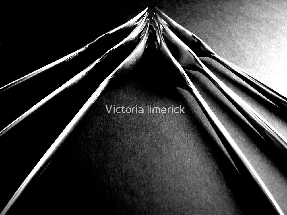 Forks on Black - Still Life by Victoria limerick