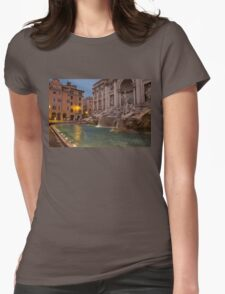 Rome's Fabulous Fountains - Trevi Fountain at Dawn Womens Fitted T-Shirt