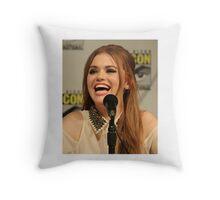 Holland Roden Comic Con Smile Throw Pillow